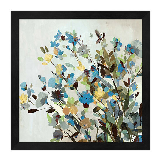 Metaverse Art Spring Flowers Framed Wall Art