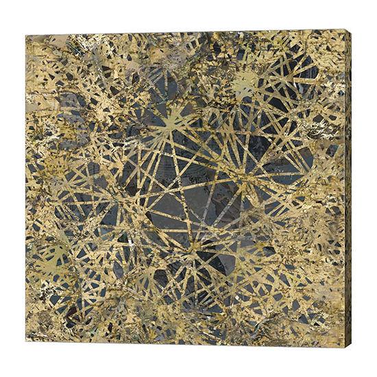 Metaverse Art Geometric Gold I Canvas Art