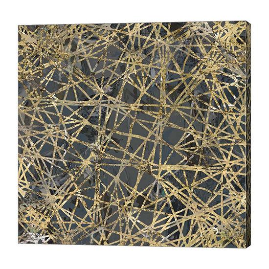 Metaverse Art Geometric Gold II Canvas Art