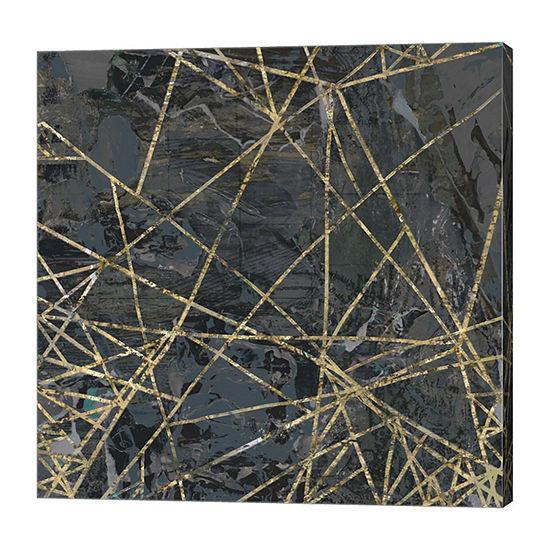 Metaverse Art Geometric Gold IV Canvas Art