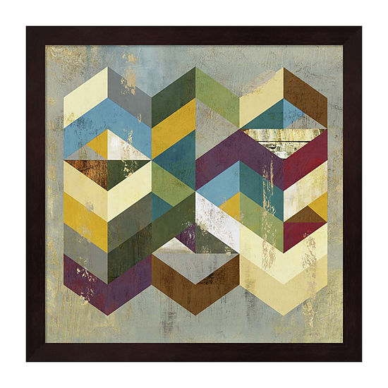 Metaverse Art Geometrics I Framed Wall Art