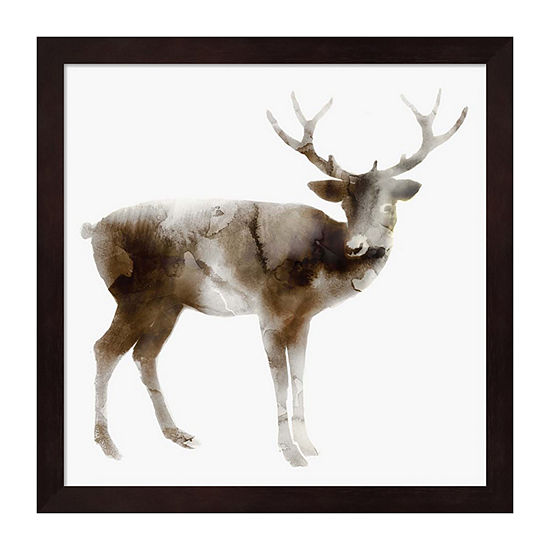 Metaverse Art Stag Framed Wall Art