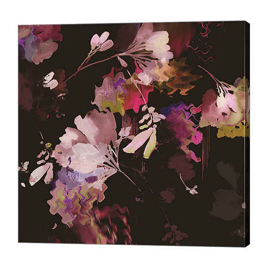 Metaverse Art Glitchy Floral IV Canvas Art