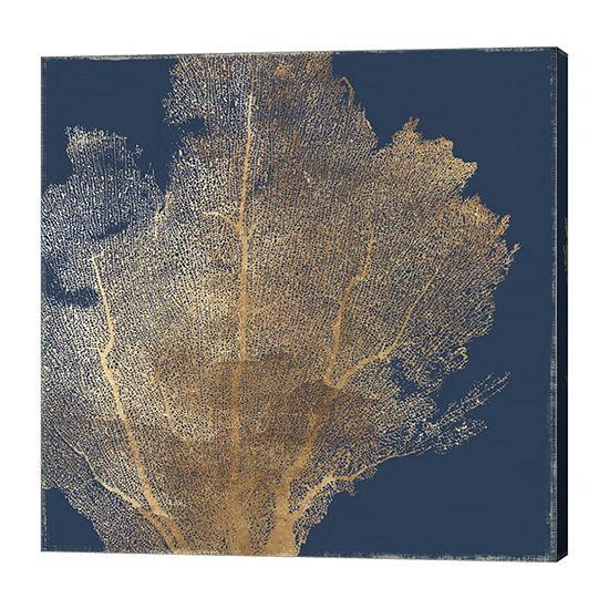 Metaverse Art Gold Coral I Canvas Art