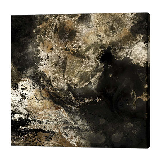 Metaverse Art Gold Marbled Abstract II Canvas Art