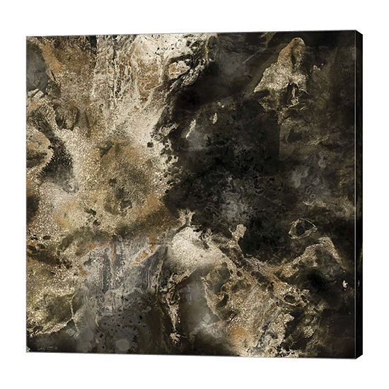 Metaverse Art Gold Marbled Abstract III Canvas Art