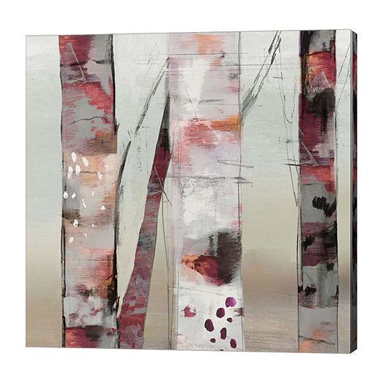 Metaverse Art Sunset Birch III Canvas Art