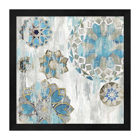 Metaverse Art Suzani Blue I Framed Wall Art