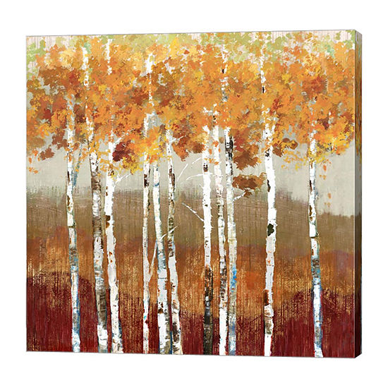 Metaverse Art Golden Landscape Canvas Art