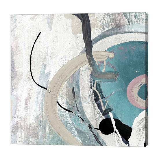Metaverse Art Tangled II Teal Canvas Art