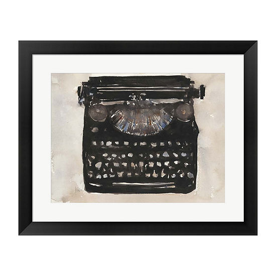 Metaverse Art Typing I Framed Wall Art