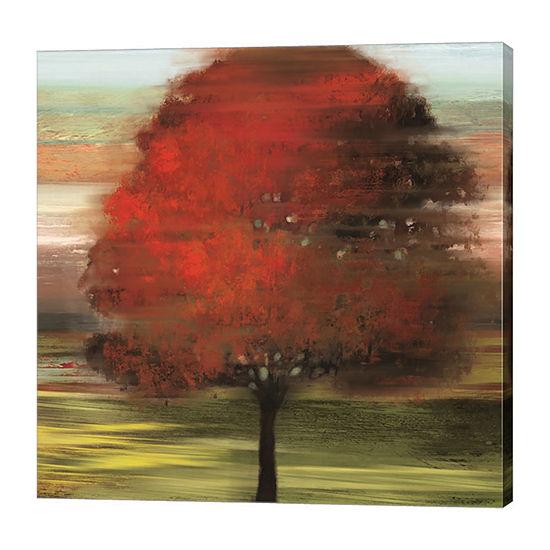 Metaverse Art Flow Trees I Canvas Art