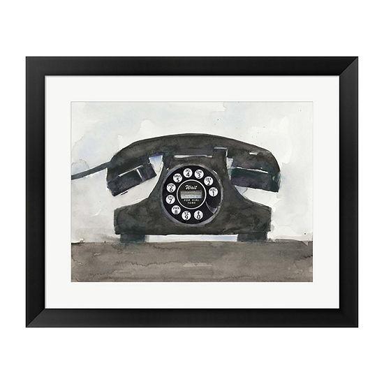 Metaverse Art Phoning II Framed Wall Art