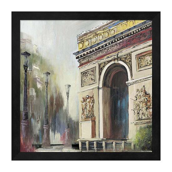 Metaverse Art Arc De Triumph Framed Wall Art