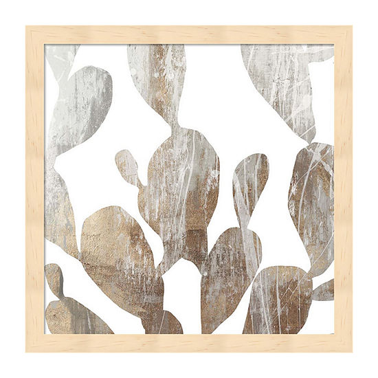Metaverse Art Marble Foliage II Framed Wall Art