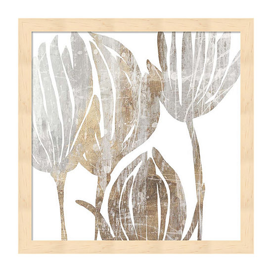 Metaverse Art Marble Foliage III Framed Wall Art