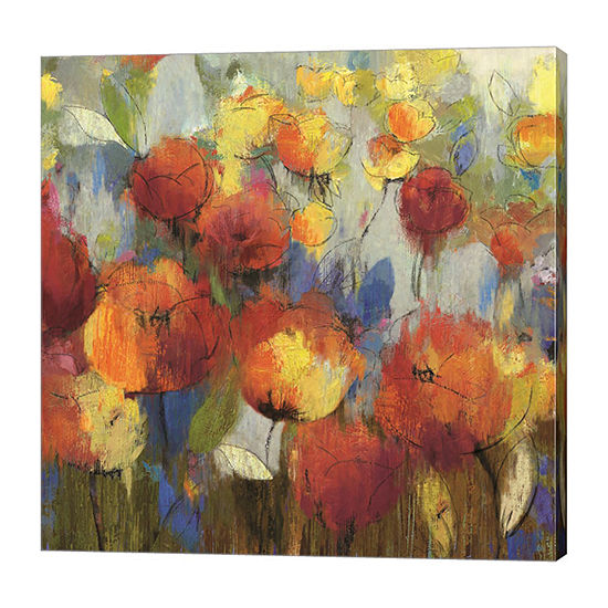 Metaverse Art Meadow Flowers Canvas Art