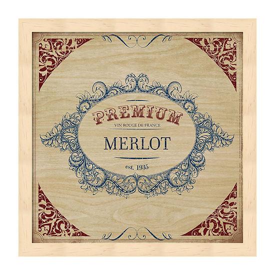 Metaverse Art Merlot Framed Wall Art