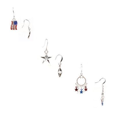 Mixit Americana 3 Pair Earring Set