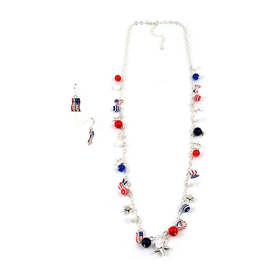 Mixit Americana Silver Tone 3-pc. Jewelry Set
