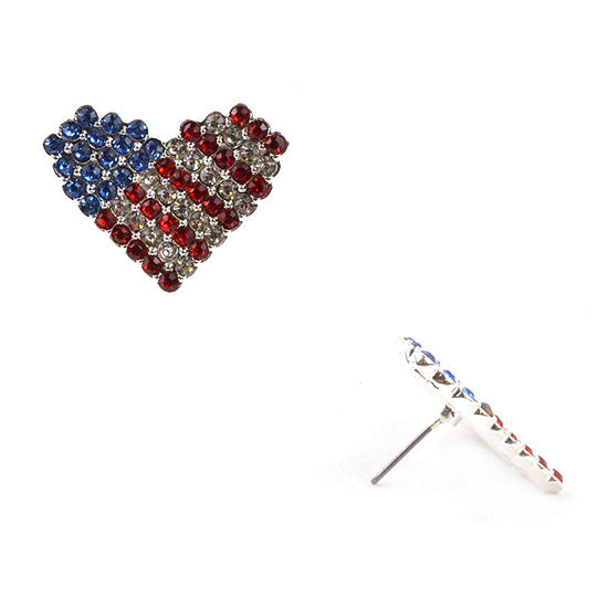 Mixit Americana 1 Inch Stud Earrings