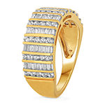 Womens 1 CT. T.W. Genuine Diamond 10K Gold Cocktail Ring