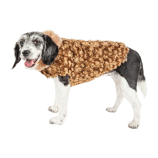 Pet Life ® Luxe 'Furpaw' Shaggy Elegant Designer Dog Coat Jacket