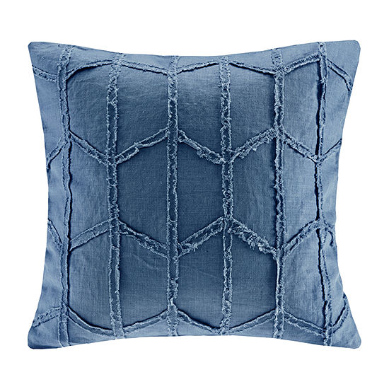 Harbor House Frayed Square Throw Pillow