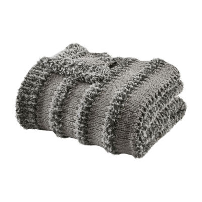 Madison Park Nora Faux Fur Throw