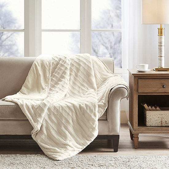 Beautyrest Duke Faux Fur Weighted Blanket