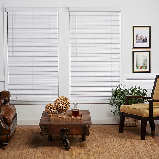 """Cut-to-Width 2"""" Cordless Faux-Wood Blinds"""