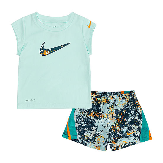 Nike Girls 2-pc. Short Set Baby