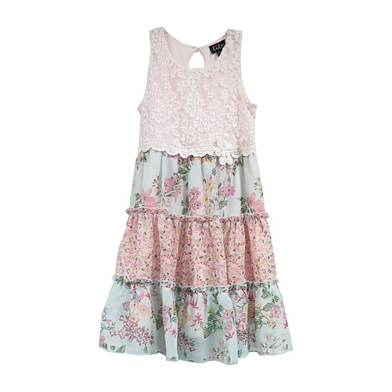 Lilt Girls Sleeveless Floral A-Line Dress - Preschool / Big Kid
