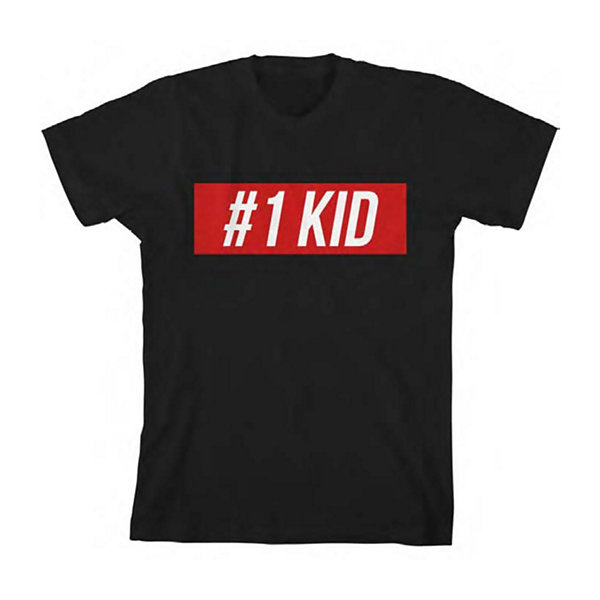 Boys Crew Neck Short Sleeve Graphic T-Shirt-Toddler