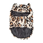 Pet Life ® Luxe 'Lab-Pard' Dazzling Leopard Patterned Faux Mink Fur Dog Coat Jacket