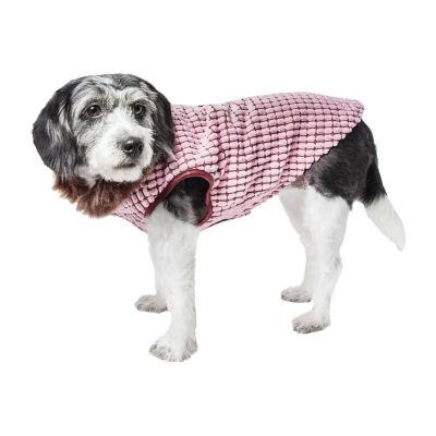 Pet Life ® Luxe 'Beautifur' Elegant Designer Boxed Mink Fur Dog Coat Jacket
