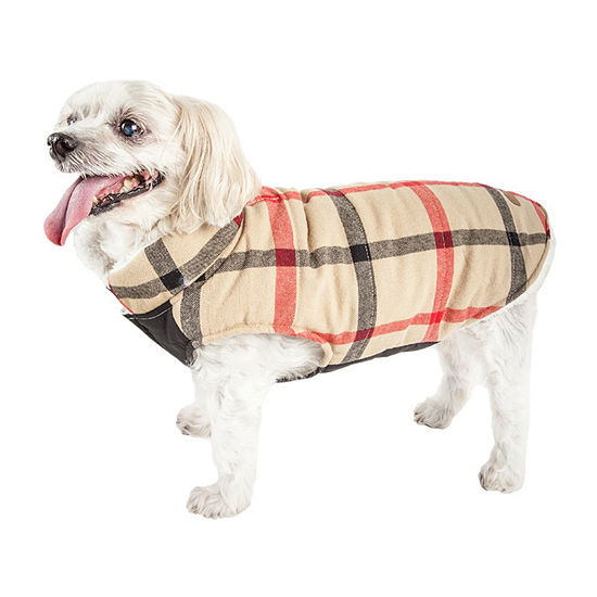 Pet Life ® 'Allegiance' Classical Plaided Insulated Dog Coat Jacket