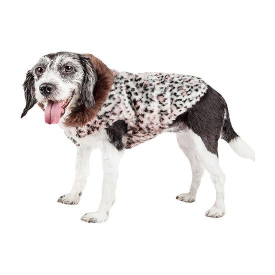 Pet Life ® Luxe 'Furracious' Cheetah Patterned Faux Mink Dog Coat