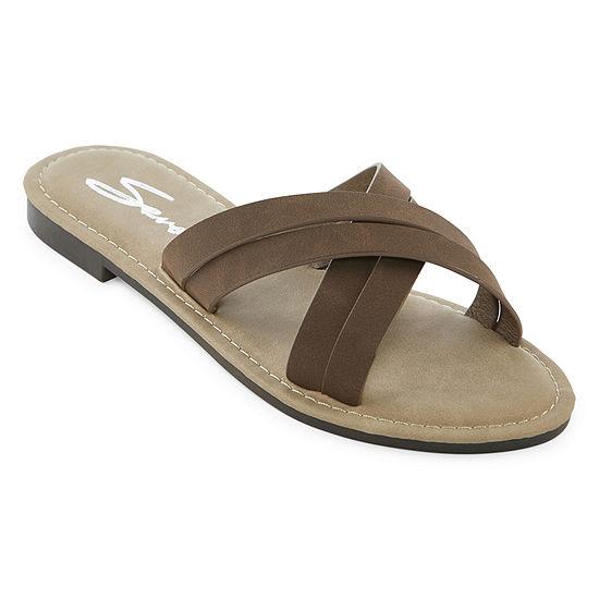 Seven 7 Womens Tia Slide Sandals