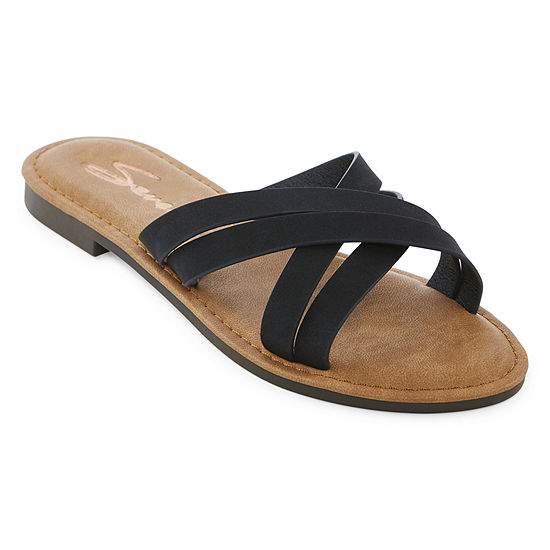 Seven 7 Womens Tia Slide Sandals