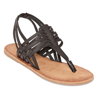 Bamboo Womens Barton 07 Flat Sandals