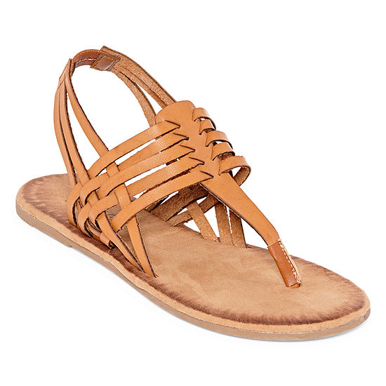 Bamboo Womens Barton 07 Flat Sandals