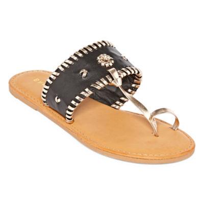 Bamboo Womens Barton 15 Flat Sandals