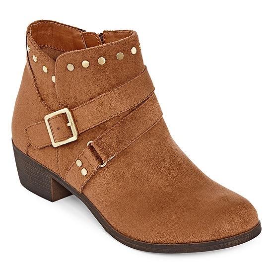 a.n.a Womens Alford Motorcycle Boots Stacked Heel