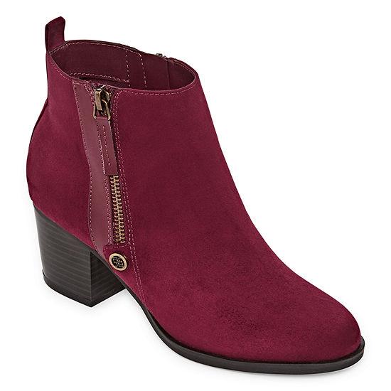 Liz Claiborne Womens Salem Booties Block Heel