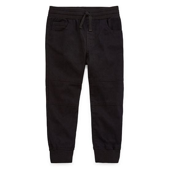 Okie Dokie Boys Cuffed Woven Jogger Pant - Toddler