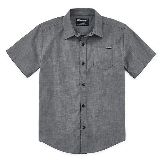 Zoo York Boys Short Sleeve Button Front Shirt Big Kid