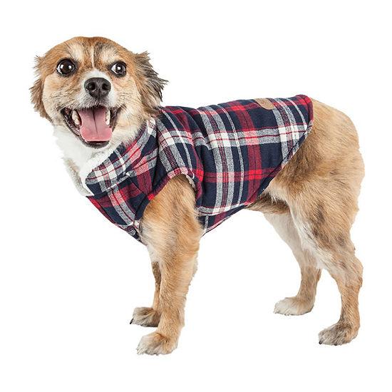 Pet Life ® 'Puddler' Classical Plaided Insulated Dog Coat Jacket