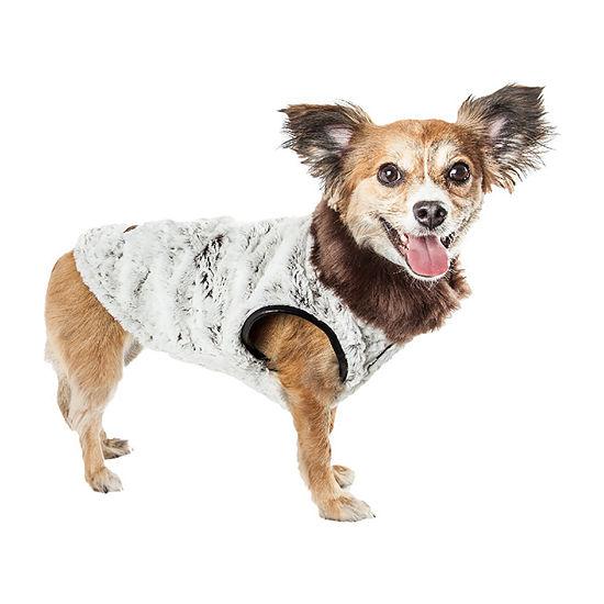 Pet Life ® Luxe 'Purrlage' Pelage Designer Fur Dog Coat Jacket