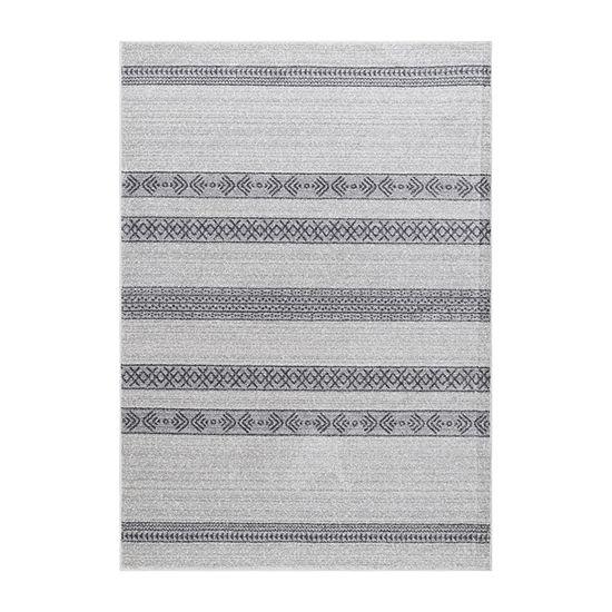 nuLoom Vintage Striped Makeda Rectangular Rug